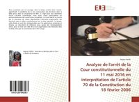 Analyse de l'arrêt de la cour constitutionnelle du 11 mai 2016 en interprétation de l'article 70