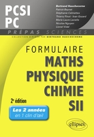 Formulaire maths, physique, chimie, SII : PCSI-PC