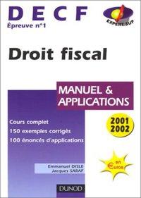 Droit Fiscal Manuel Et Applications Emmanuel Disle Jacques Librairie Eyrolles