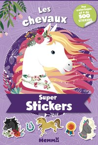 Super stickers - les chevaux (violet)