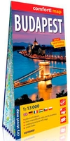 Budapest 1/13.000 (ang) (carte grand format lamine