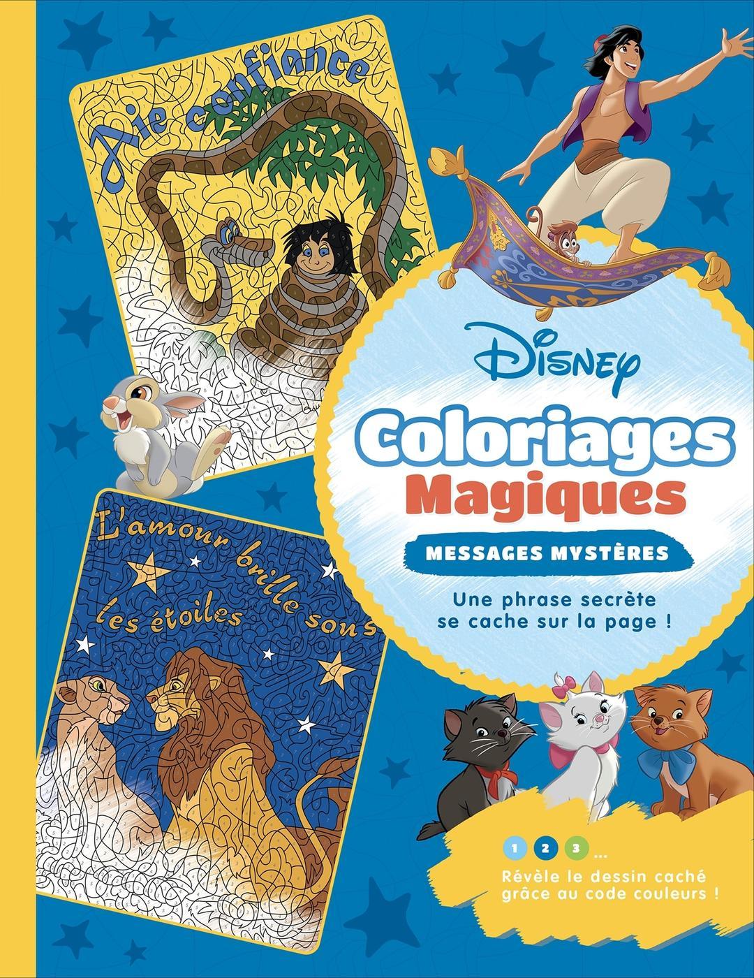 Disney   coloriages magiques   messages mystères   Librairie Eyrolles