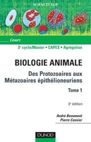 Biologie animale - Tome 1