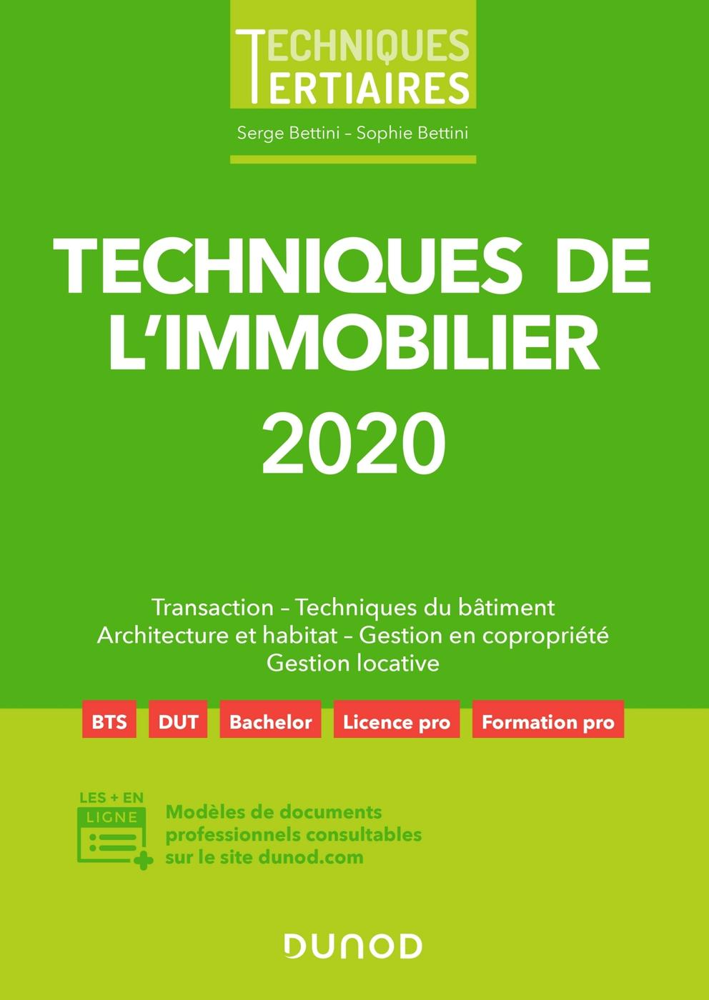 Techniques De L Immobilier 2020 S Bettini S Bettini 7ème Librairie Eyrolles