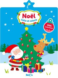 Colle et colorie noël