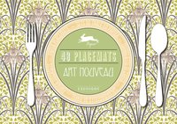 Art Nouveau - 48 Sets de table en papier