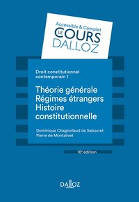 Droit constitutionnel contemporain Tome 1 - 10e ed.