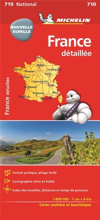 Carte nationale 710 france detail 1/800 000