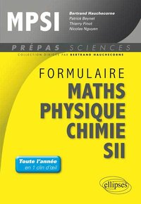 Formulaire maths, physique, chimie, SII - MPSI