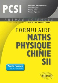 Formulaire maths, physique, chimie, SII - PCSI