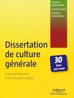 F.Lejeune, J.-F.Guédon - Dissertation de culture générale