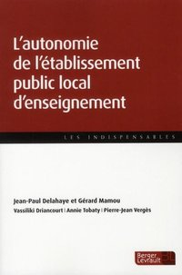 L'autonomie de l'établissement public local d'enseignement