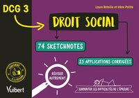 Dcg 3. droit social en 74 sketchnotes et 20 applications corrigées