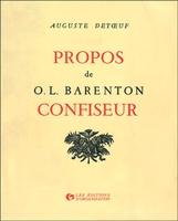 A. Detoeuf - Propos de O.L. Barenton, confiseur
