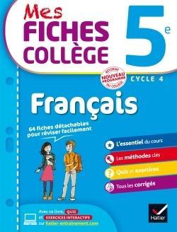 Mes Fiches College Francais 5eme Behlouli Malika Corbet Librairie Eyrolles