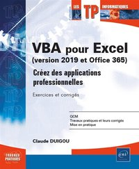 VBA pour Excel (version 2019 et office 365)