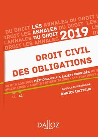 Droit civil des obligations - 2019