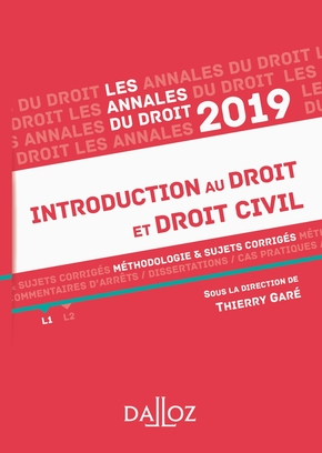 Introduction au droit et droit civil - 2019