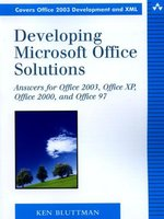 Developing Microsoft Office Solutions: