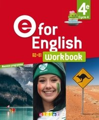 E FOR ENGLISH ; anglais ; 4e ; cahier (édition 2017)