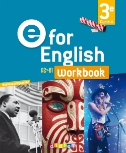 E FOR ENGLISH ; anglais ; 3e ; worbook (édition 2017)