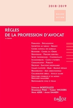Règles de la profession d'avocat - 2018-2019