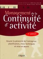 Emmanuel Besluau - Management de la continuité d'activité (MCA)