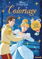 Disney princesses - coloriage avec plus de 100 stickers (cendrillon)