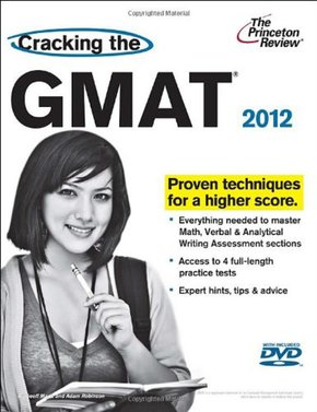 Cracking the gmat 2012 book+dvd