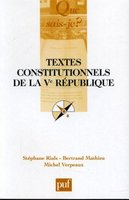 Textes constitutionnels de la Ve République