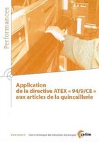 Application de la directive atex 94 9 ce aux articles de la quincaillerie performances 9q93