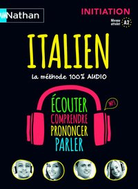 Italien - coffret initiation 100% audio voie express initiation livre + cd audio
