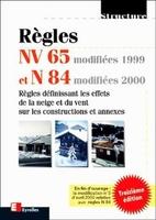 Règles - Règles nv 65 modifiées 99 et n 84 modifiées 2000