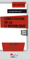 Constitution de la Ve République 2015-2016