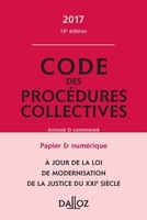 Code des procédures collectives - 2017