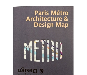 Paris metro architecture & desing map