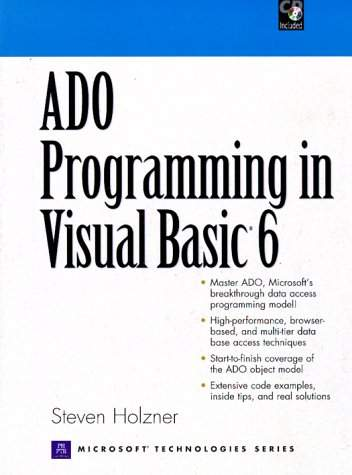 ADO Programming in Visual Basic 6 - S  Holzner - Librairie Eyrolles