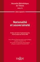Nationalité et souveraineté. volume 196 - 1re ed.