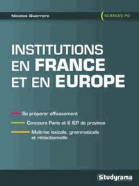 Institutions en France et en Europe