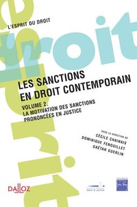 Les sanctions en droit contemporain - 1re ed.