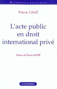 L'acte public en droit international privé