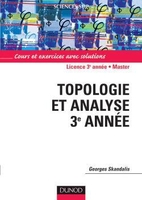 Topologie et analyse 3e année - Licence - Master