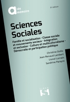 Sciences sociales - 9e ed.