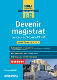Devenir magistrat - 2018-2019