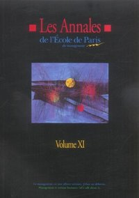Les annales de l'Ecole de Paris du Management - Volume 11