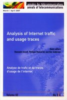 Analysis of internet traffic and usage traces - Analyse de trafic et de traces d'usage de l'internet