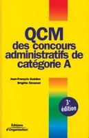 J.-F.Guédon, B.Simonot - Qcm des concours administratifs de catégorie a