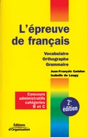 J.-F.Guédon, I.de Loupy - L'épreuve de français