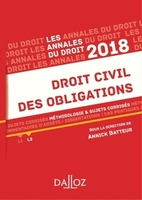 Droit civil des obligations - 2018