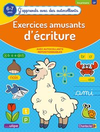 Exercices amusants d'écritures (6-7 a.) - (j'apprends avec des autocollants)